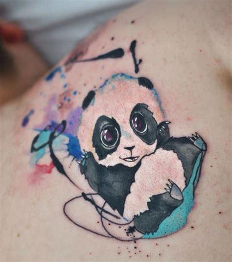 tattoo de panda feminina little panda tattoo inkstylemag