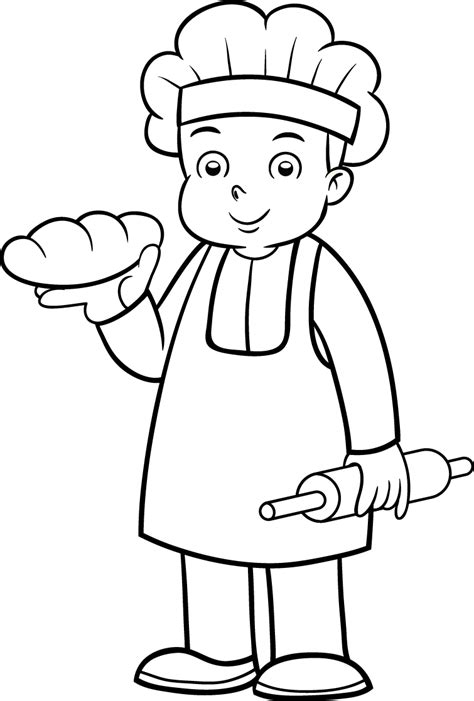 drawing page baker 6 printable coloring pages