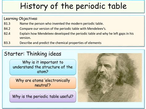 history of the periodic table history of the periodic table by jubblord teaching