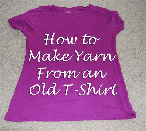 How To Make Tshirt diy how to make yarn from an t shirts