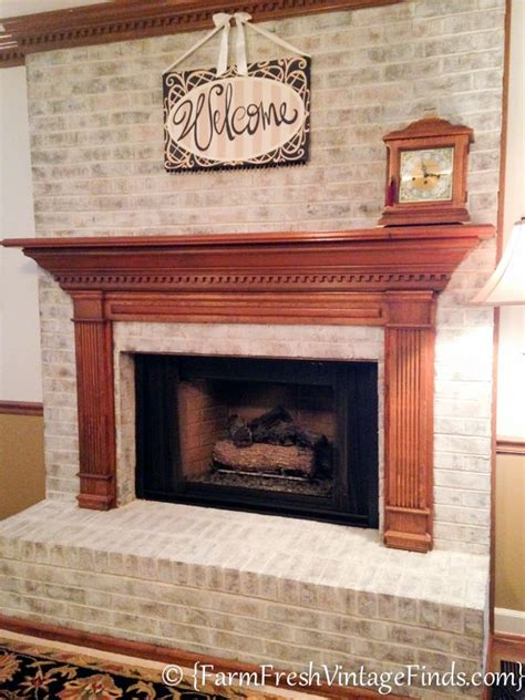 white painted brick fireplace how to whitewash bricks using sloan chalk paint in
