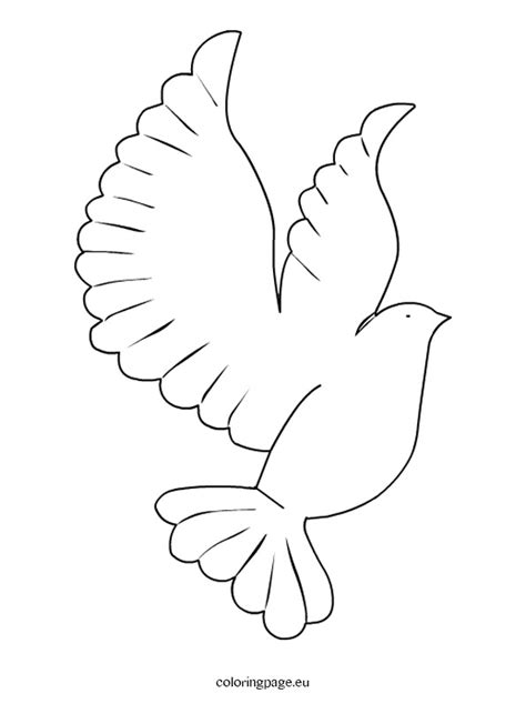printable coloring page of a dove images