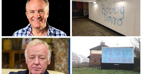 bobby davros  graffitied  stoke  trent