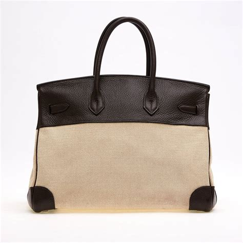 Hermes Birkin Canvas 1 hermes birkin canvas and leather 35 at 1stdibs