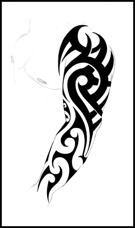 tribal sleeve tattoos stencils 37 best arm tribal stencils images on