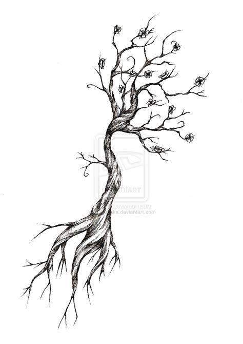 black tree tattoo designs tree design by meripihka on deviantart tattoos