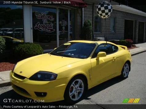 2005 Hyundai Tiburon Se by Sunburst Yellow 2005 Hyundai Tiburon Se Black Interior