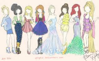 Disney inspired fashion sketches on behance pictures to pin on