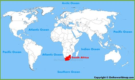 world map africa south africa location on the world map