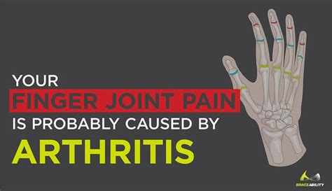 finger joint pain   caused  arthritis
