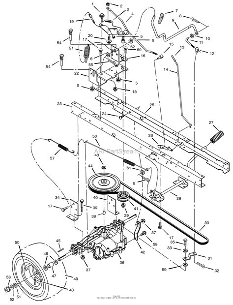 murray mower parts diagram murray 425009x8a lawn tractor 2002 parts diagram for