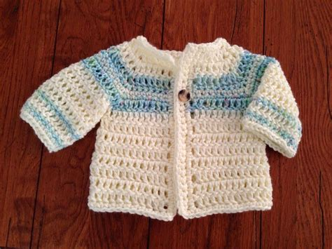 newborn cardigan pattern craft brag crochet baby boy sweater pattern free