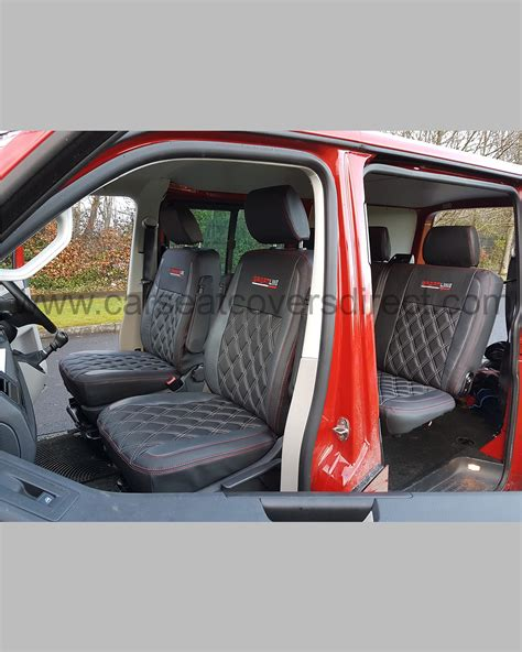 vw transporter  kombi seat covers charcoal grey  diamonds crew cab car seat covers