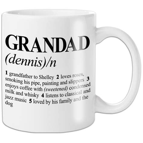 Personalised Dictionary Definition Grandad Mug   Find Me A Gift