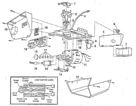 Craftsman Garage Door Opener Parts Diagram Craftsman Garage Door Opener Parts Model 13953651sr Sears Partsdirect