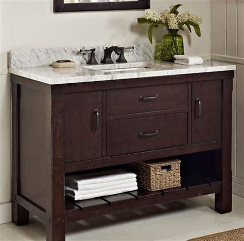 napa 48 open shelf vanity aged cabernet fairmont