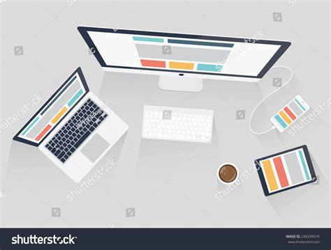 design web layout illustrator royalty free responsive web design and web 236339074