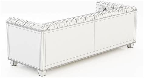 savoy sofa restoration hardware restoration hardware savoy leather sofa 3d model max obj