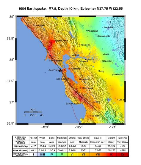 usgs earthquake map california 1906 san francisco earthquake shakemaps