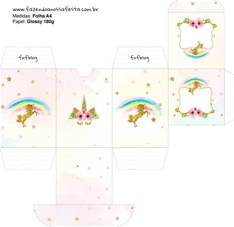 Fiesta De Unicornios Cajas Para Imprimir Gratis Ideas Y Material Gratis Para Fiestas Y Templates Para Gratis