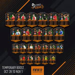 fifa 17 halloween cards guide fut 17 scream players cards