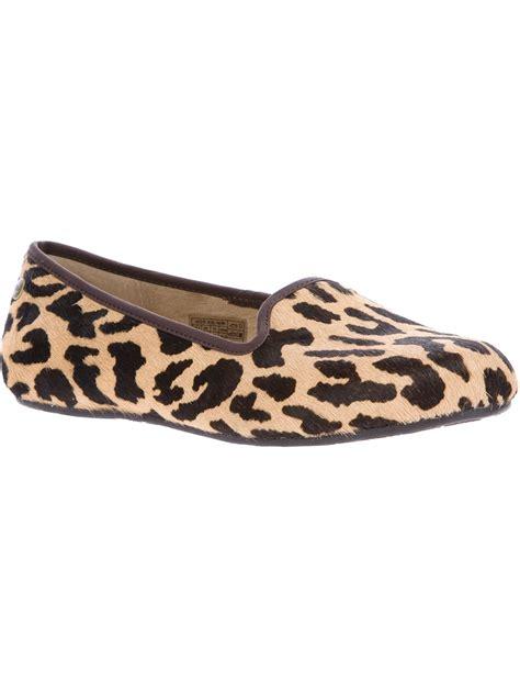leopard slippers ugg alloway leopard print slipper in brown lyst