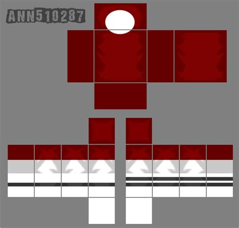 roblox red shirt template by ann510287 on deviantart