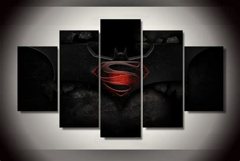 superman home decor 5 pieces hot the batman vs superman cool wall art poster