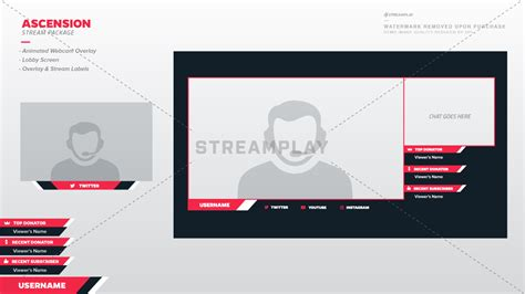 instagram layout rahmen twitch webcam overlay templates premade camera frames