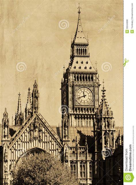 imagenes vintage big ben vintage view of london big ben royalty free stock photos