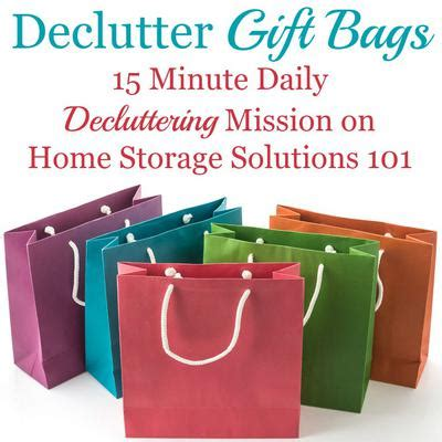 home storage solutions 101 how to declutter gift bags