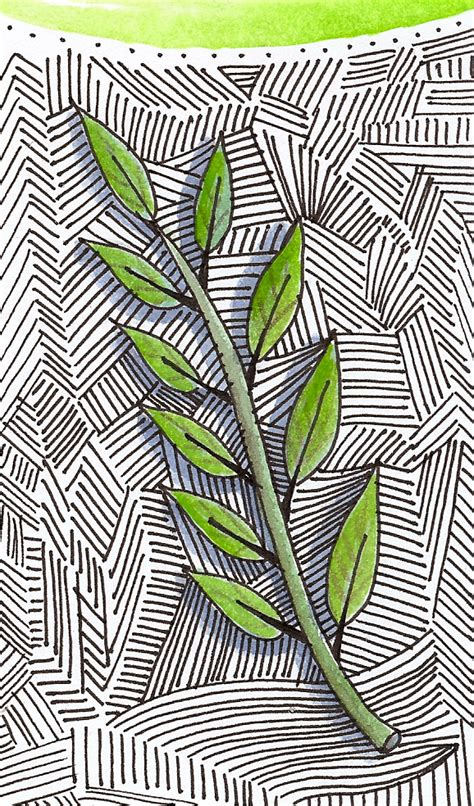 background zentangle artyful leaf on a zentangle background