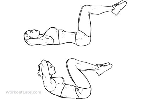 double crunch illustrated exercise guide workoutlabs