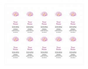porsenal card template for word personal business card template word templates