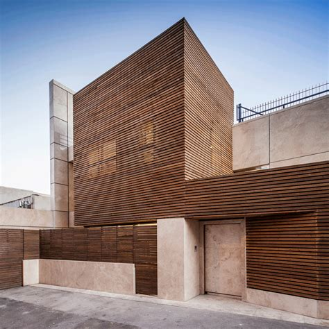 timber architecture inward facing iranian home lets light filter in through a