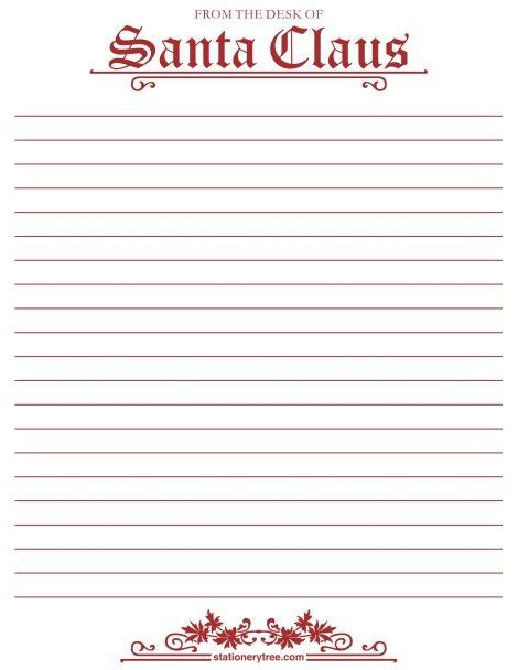 santa writing paper letter to santa writing paper best template collection