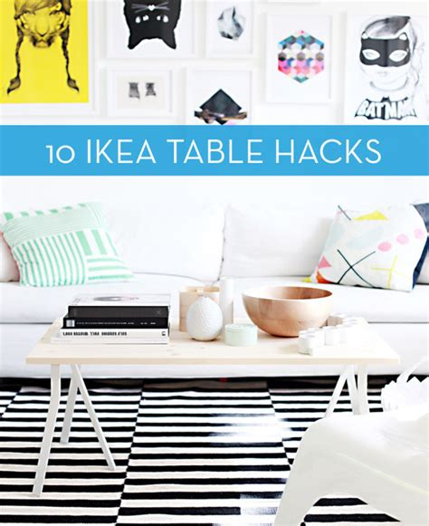 awesome ikea lack coffee table hacks minimalist desk roundup 10 clever ikea table hacks curbly