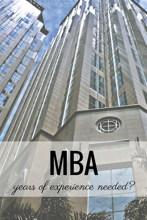 Mba How Many Years Of Work Experience by Ask Kate Years Of Experience Before Mba Prepwise