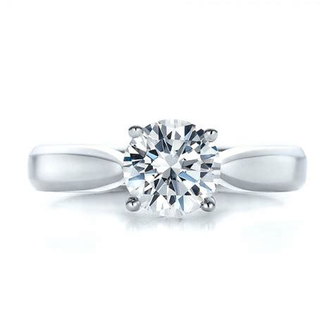 Contemporary Engagement Rings by Contemporary Solitaire Engagement Ring 100397