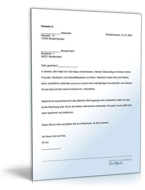 Schreiben Einladung Muster einladung schreiben vorlage vorlagen