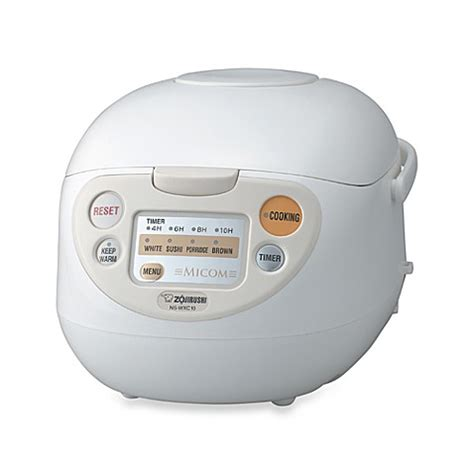 Rice Cooker Mls zojirushi 5 1 2 cup micom rice warmer cooker in white