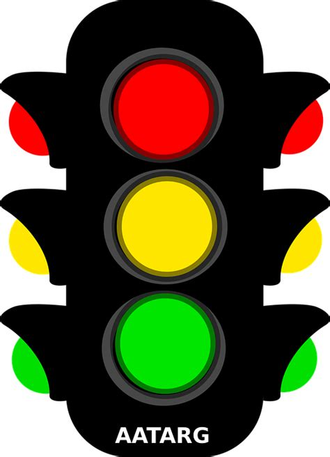 stop light free vector graphic traffic light yellow green