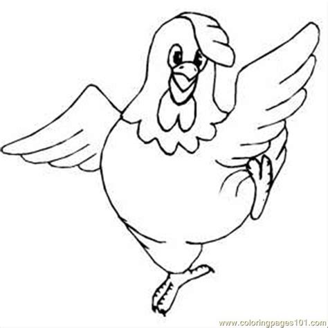 Chicken Dance Coloring Page | dancing chicken coloring page free dancing coloring