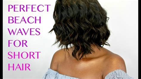 how to get beach waves for short hair with no heat how to create beach waves on short hair w curling wand