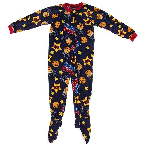 Boys Footed Sleepers by Navy Basketball Footed Pajamas For Boys