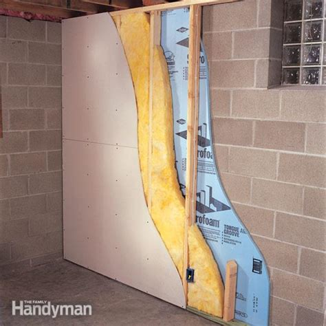 Ideas For Finishing Concrete Basement Walls How To Finish A Basement Wall The Family Handyman