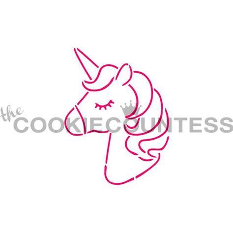 unicorn head cookie stencil