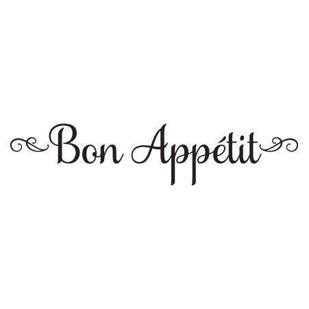 bon appétit elegant script bon app 233 tit wall quotes decal wallquotes com