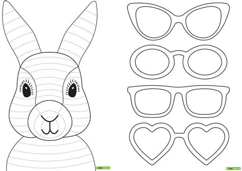 easter bunny template card easter bunny craft idea teach starter