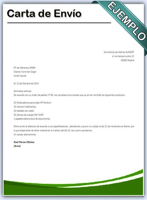 carta para envio de muestras c 243 mo hacer una carta de env 237 o en word